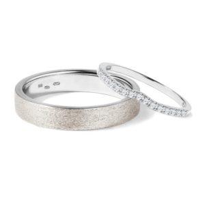 Diamantové snubní prsteny ve zlatě KLENOTA