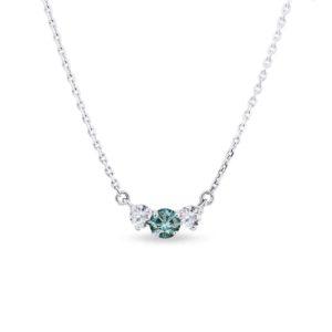 Diamantový náhrdelník z bílého zlata KLENOTA