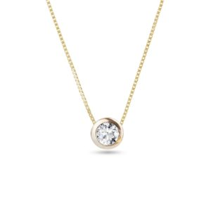 Zlatý náhrdelník s diamantem KLENOTA