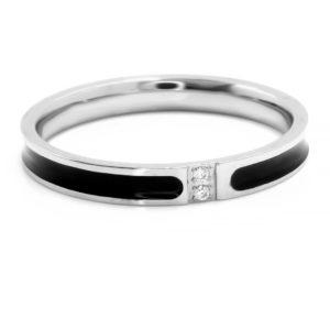 BRUNOshop.cz S2746 Prsten s kamínky BLACK Velikost: 10