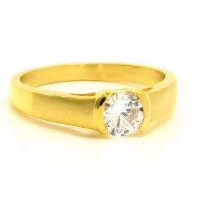 BRUNOshop.cz S2785 Prsten s kamínkem GOLD Velikost: 10