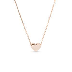 Náhrdelník ve tvaru srdce z růžového zlata KLENOTA
