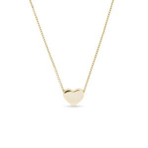 Náhrdelník ve tvaru srdce ze žlutého zlata KLENOTA