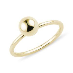 Prsten se zlatou kuličkou KLENOTA