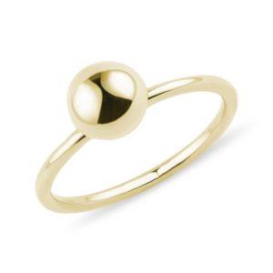 Zlatý prsten s kuličkou KLENOTA