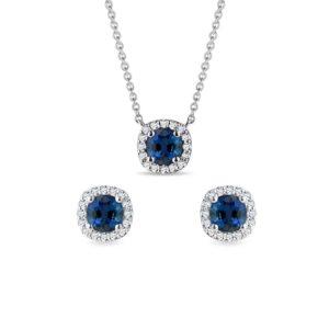 Set luxusních šperků s diamanty a safíry KLENOTA