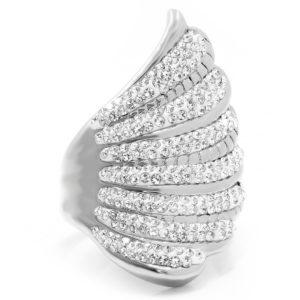 BRUNOshop.cz S1872 Třpytivý prsten z chirurgické oceli Velikost: 11