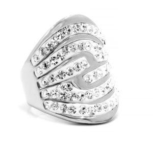 BRUNOshop.cz S1873 Třpytivý prsten z chirurgické oceli Velikost: 6