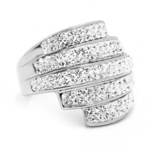 BRUNOshop.cz S1875 Třpytivý prsten z chirurgické oceli Velikost: 11